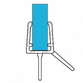 Duschdichtung 10810, 80cm, für 6-8mm Glasstärke, S1, transparent