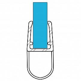 Duschdichtung 10926, 100cm, für 6-8mm Glasstärke, S4, transparent
