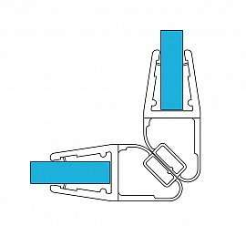 Magnet Duschdichtung Set 11367, 90º 201cm, für 6-8mm Glasstärke, S5, transparent