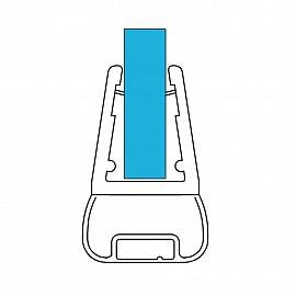 Magnet Duschdichtung Set 11374, 180º, 201cm, für 6-8mm Glasstärke, S6, transparent