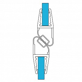 Magnet Duschdichtung Set 11459, 180º, 201cm, für 6-8mm Glasstärke, S7, transparent
