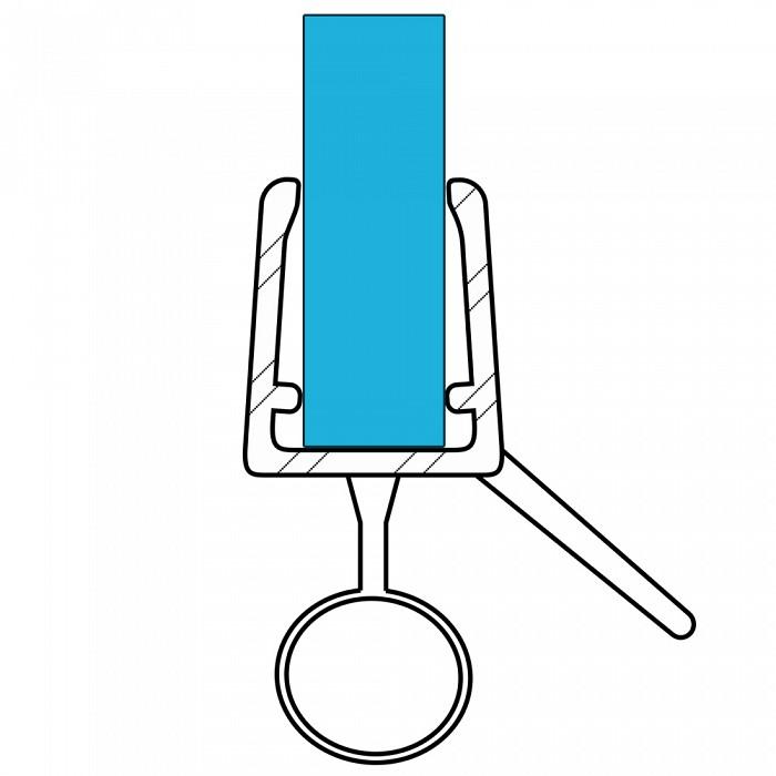 VARIOSAN Duschdichtung 10841, 100cm, für 6-8mm Glasstärke, S2, transparent