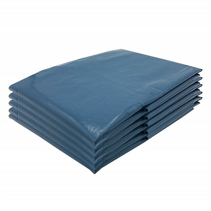 VARIOSAN Müllsäcke 11350, 240 L, extra stark, 5 Stück, 90 µ, Typ 100, blau