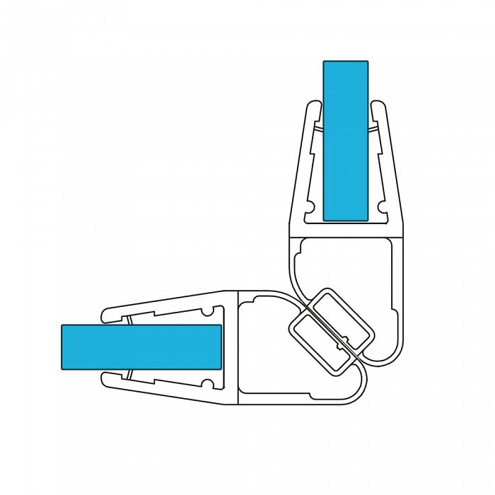 VARIOSAN Magnet Duschdichtung Set 11367, 90º 201cm, für 6-8mm Glasstärke, S5, transparent