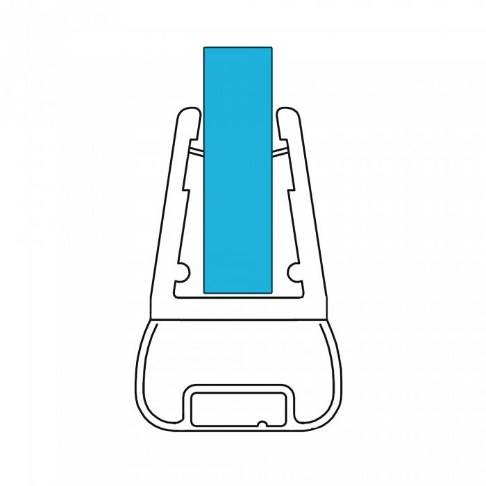 VARIOSAN Magnet Duschdichtung Set 11374, 180º, 201cm, für 6-8mm Glasstärke, S6, transparent