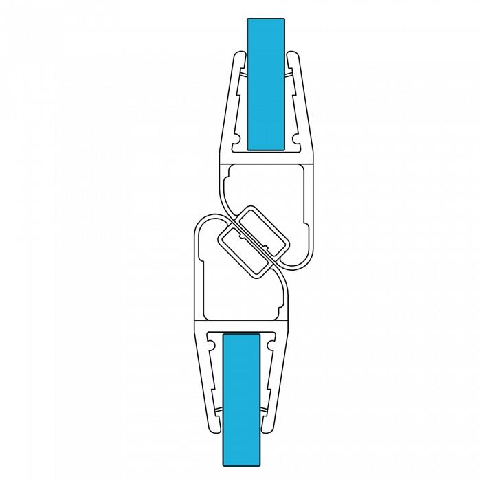 VARIOSAN Magnet Duschdichtung Set 11459, 180º, 201cm, für 6-8mm Glasstärke, S7, transparent
