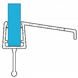 Duschdichtung 10858, 100cm, für 6-8mm Glasstärke, S3, transparent