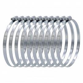 Schlauchschellen Set 11091, 10 Stück, Spannbereich 100 - 120 mm, Bandbreite 9 mm, W1