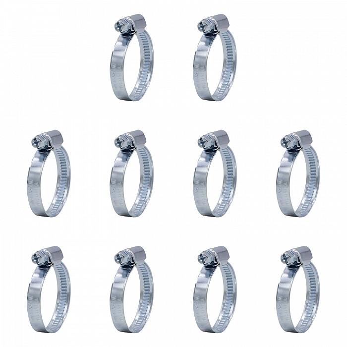 VARIOSAN Schlauchschellen Set 11817, 10 Stück, Spannbereich 25 - 40 mm, Bandbreite 9 mm, W1